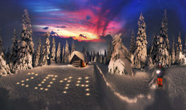 Alpiner Sonnenaufgang der Schönheit Stockbilder