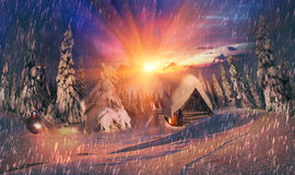 Alpiner Sonnenaufgang der Schönheit Lizenzfreies Stockfoto