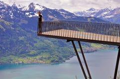 Alpiner Standpunkt Stockfotografie