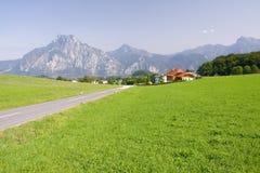 Alpines Ackerland Stockfotos