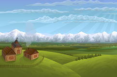 Alpines Dorf vektor abbildung