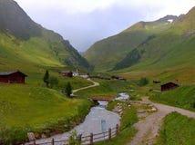Alpines Dorf auf italienisch Tirol Lizenzfreie Stockbilder