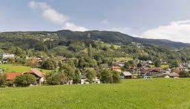 Alpines Dorf Mondsee in Österreich Lizenzfreies Stockbild
