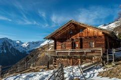 Alpines Häuschen in Österreich Lizenzfreies Stockbild