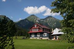 Alpines Häuschen stockfotos