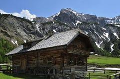 Alpines Häuschen Stockfotografie