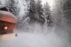 alpines Haus Stockfoto