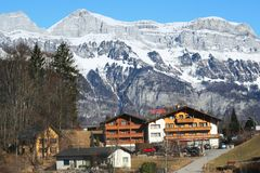 Alpines Hotel Lizenzfreie Stockbilder