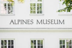 Alpines museum Stock Photography