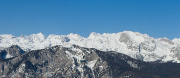 Alpines Panorama Stockbilder