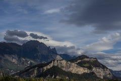 Alpines Panorama in der Schweiz Stockfotografie