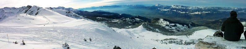 Alpines Skiort Stockfotografie