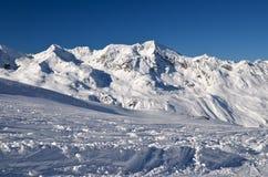 Alpines Skiort in Solden in Otztal-Alpen, Tirol, Österreich Lizenzfreie Stockbilder