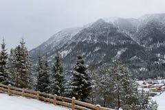 Alpines Skiort von Achenkirch, österreichische Alpen Lizenzfreie Stockfotografie