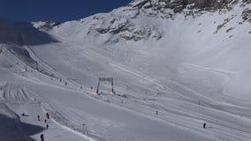 Alpines Skiort Zugspitzplatt stock video