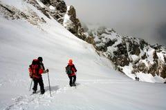 Alpines Trekking lizenzfreie stockfotos