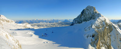 Alpinesky paradise. Glacier 3000m dachstein Alpine sky paradise Stock Photo