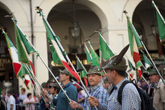 ALPINI IN TURIN Royalty Free Stock Photo