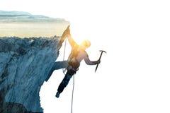 Alpinism sport als concept Gemengde media royalty-vrije stock foto