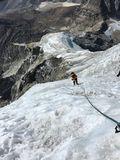 Alpinisme, région d'Everest photo stock