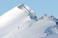 Alpinisme in Zwitserse Alpen Stock Foto's