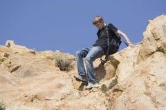 Alpinismo adolescente Imagens de Stock