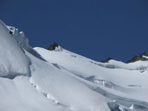 Alpinismo in alpi. Fotografie Stock Libere da Diritti