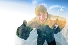 Alpinismo alpino Immagine Stock Libera da Diritti