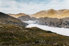 Alpinismo de Gran Paradiso imagem de stock