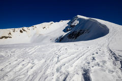 Alpinismo del invierno Fotografía de archivo libre de regalías