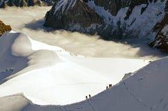 Alpinismo delle alpi Immagini Stock