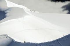 Alpinismo delle alpi Fotografie Stock Libere da Diritti