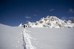 Alpinismo dello sci Immagine Stock