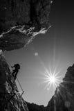 Alpinismo di estate Fotografia Stock Libera da Diritti