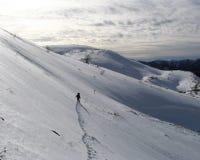 Alpinismo di inverno Immagini Stock