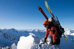 Alpinismo di inverno Immagine Stock