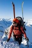 Alpinismo di inverno Immagini Stock Libere da Diritti