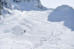 Alpinismo di inverno in Fagaras Fotografie Stock