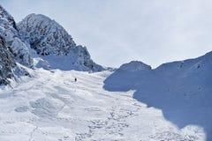 Alpinismo di inverno in montagne di Fagaras Immagini Stock Libere da Diritti
