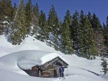 Alpinismo di inverno in montagne di Rofan Fotografia Stock Libera da Diritti
