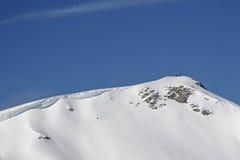 Alpinismo di inverno nelle montagne di Rofan Fotografia Stock Libera da Diritti