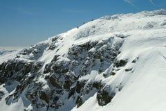 Alpinismo di pratica nella sierra de Guadarrama Fotografie Stock Libere da Diritti