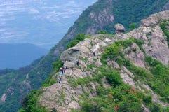 Alpinismo di scalata di roccia Immagine Stock Libera da Diritti