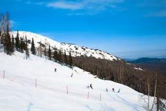 Alpinismo do esqui imagens de stock