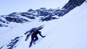 Alpinismo estremo dello sci su Eiger Immagini Stock Libere da Diritti
