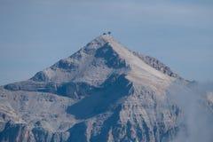 Alpinismo in ghiacciaio di marmolada in dolomia Fotografia Stock