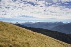 Alpinismo in Italia del Nord, Europa Immagini Stock