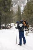 Alpinismo - Montana Imagen de archivo libre de regalías