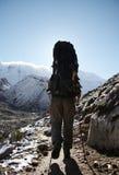 Alpinismo nel BLANCA della Cordigliera Immagine Stock