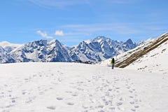 Alpinismo nelle alpi Immagine Stock Libera da Diritti